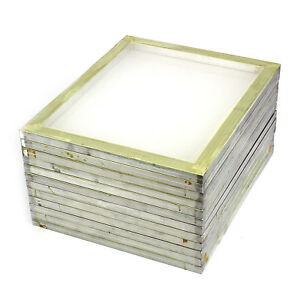 12 Pack Aluminum Silk Screen Printing Press Screens 110 White Mesh 20 X 24