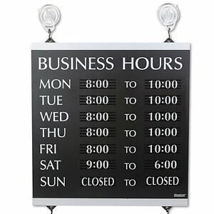 New Century Series Open Close Monday Sunday Business Hours Of Operation Sign
