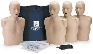 Prestan Adult Aed Cpr Manikins With Monitors 4 Pack Med Skin