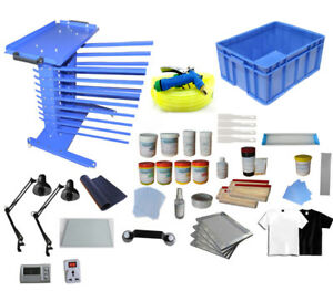 Screen Printing Materials Bundle Rack Ink Bottle screen Frame Shelf Storage Box