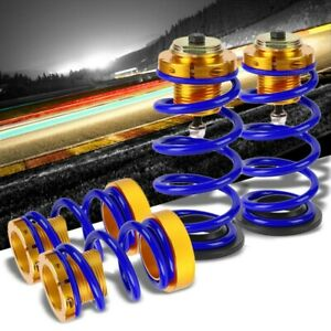 1 4 Adjust Blue Coilover Lowering Springs Perch Suspension Kit For 06 11 Civic