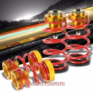 1 4 Adjust Red Coilover Lowering Spring Perch Suspension Kit For 06 11 Civic