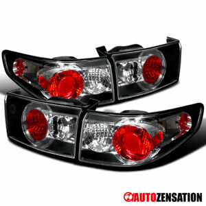 For 2003 2005 Honda Accord 4dr Black Clear Tail Lights Reverse Brake Lamps Pair