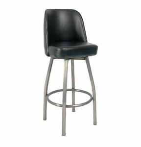 New Commercial Swivel Barstool With Clear Coat Base Restaurant Furniture 3008
