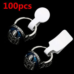 100pcs Bag White Blank Price Tags Necklace Ring Jewelry Labels Paper Stickers