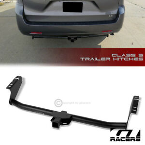 For 2004 2018 Sienna Class 3 Matte Black Trailer Hitch Receiver Bumper Tow 2