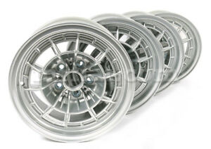 Fiat Dino 2000 2400 Silver Campagnola Style 7x14 Wheel Set 4 Pcs New
