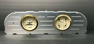 1960 1961 1962 1963 Chevy Truck 3 3 8 Quad Gauge Cluster Gold
