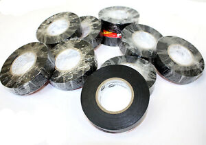 10 Rolls 60 Ft 3 4 X 7mil General Vinyl Pvc Black Insulated Ul Electrical Tape