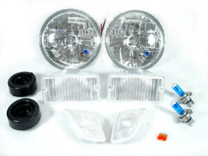 Dot Approved Combo Clear Headlight Bumper Signals For 97 06 Jeep Wrangler Tj