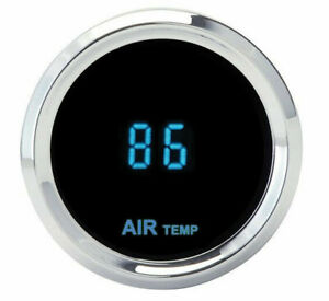 Dakota Round Outside Ambient Air Temperature Gauge Blue Slx 14 5 New