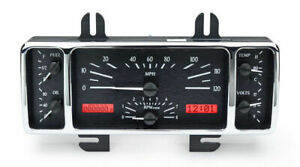 Dakota 40 47 Ford Pickup Truck Analog Dash Gauges Black Red Vhx 40f K R