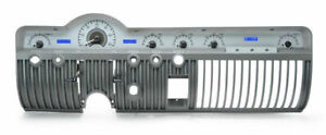 Dakota 50 51 Mercury Analog Dash Gauge Silver Alloy Blue Display Vhx 50m