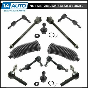 12 Piece Steering Suspension Kit Ball Joints Sway Bar Links Tie Rods Bellows