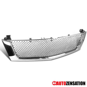 For 02 06 Cadillac Escalade Chrome Mesh Style Front Bumper Hood Grill Grille
