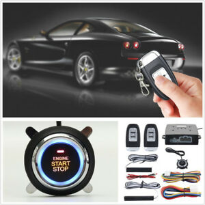 9 Pcs 12v Pke Car Suv Passive Keyless Entry Led Push Button Engine Starter Alarm