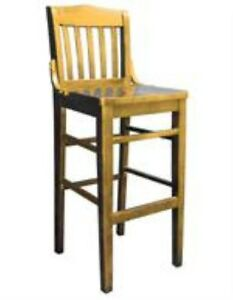New Commercial Restaurant Schoolhouse Barstool Furniture Cherry Finish B3037bs