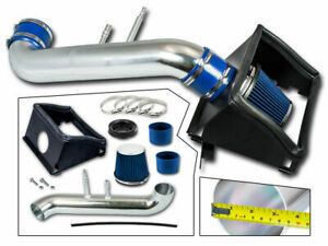 Bcp Blue For 2015 2020 Ford F150 5 0l V8 Heat Shield Cold Air Intake Kit filter