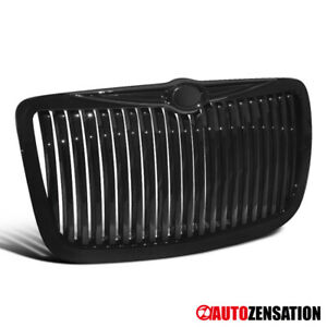 For 2004 2005 2010 Chrysler 300 300c Bentley Style Glossy Black Vertical Grille