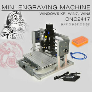 Cnc 2417 Mini Diy Mill Router Kit Metal Engraver Pcb Milling Machine Usb Desktop