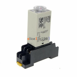 Dc 12v 5a 8 Pins Dpdt H3y 2 0 30 Minutes Timer Time Relay Delay With Base