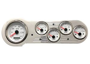 1953 1954 Chevy Car 5 Gauge Gps Dash Panel Instrument Cluster Insert Set White