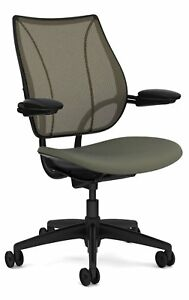 Liberty Chair By Humanscale Gel Seat Adjustable Duron Arms Black Frame ash