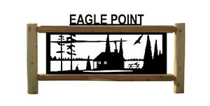 Personalized Log Sign Cabins Eagles Outdoor Products