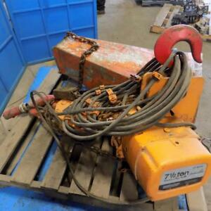 Ingersoll rand 7 1 2 Ton Lectra link Electric Chain Hoist Le Series