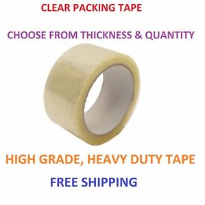 1 72 Rolls Clear Packing Packaging Carton Sealing Tape 2 55 110 Yds Heavy Duty