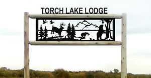 Personalized Sign Whitetail Deer Bear Ducks Log Signs Wildlife Art