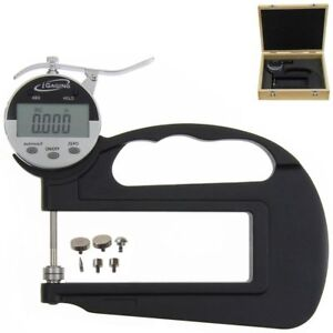 Igaging Digital Thickness Gauge Deep Throat With 6 Anvils Electronic 1 0 0005
