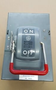 Thn3362 Ge Heavy Duty Disconnect Safety Switch 60 Amp 600v Model 2