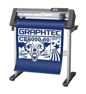 24 Graphtec Ce6000 60 plus Vinyl Cutter Plotter With Free Stand Free Shipping
