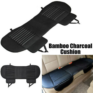 Car Auto Rear Seat Cover Pu Leather Bamboo Charcoal Cushion Pad Mat Universal