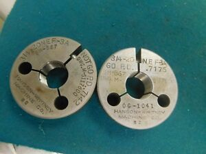 Hanson Whitney Usa Go No Go Thread Ring Gage Set 3 4 20 Nef 3a