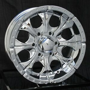 16 Inch Chrome Wheels Rims Gmc Chevy 1500 6 Lug Truck Avalanche Yukon Helo Maxx