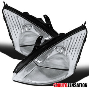 2000 2004 Ford Focus Zx4 Se Lx Pair Clear Lens Headlights Head Lamps Left right