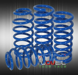 1994 2004 Ford Mustang Gt V6 V8 Blue Lowering Spring Lower Kit Set 1999