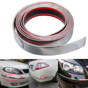 30mm Diy Exterior Car Chrome Adhesive Strip Trim Molding Styling Decoration 2 5m