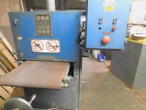 Aem 24 Timesaver Belt Sander 10 Hp With Torit Dust Collector
