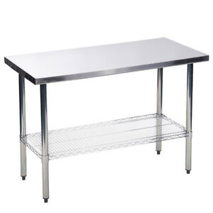 24 X48 Stainless Steel Kitchen Work Table W Wire Lower Shelf Commercial 56r