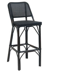 New Black Armless Aluminum Bs Outdoor Patio Restaurant Seating Furniture p46 bs
