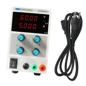 Adjustable 4 digit Dc Power Supply Variable 0 5a 0 60v W Cable Us Plug