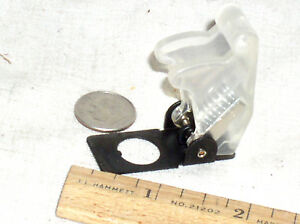 1 Clear Full Size Toggle Switch Flip Safety Cover Guard Military Style Usa Ship