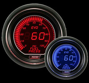Prosport 52mm Evo Series Digital Fuel Pressure Gauge Red And Blue