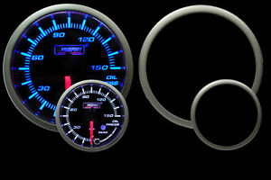 Oil Pressure Gauge Peak Warning Blue White 52mm 2 1 16 Prosport Premium Series