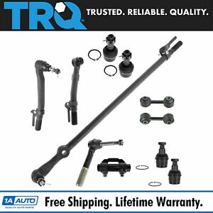 11 Piece Kit Tie Rod End Drag Link Ball Joint Sway Bar Link For Super Duty Truck