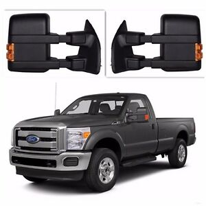 Towing Mirrors Power Heated Turn Signal For 99 07 Ford F250 f550 Super Duty