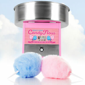 New Electric Commercial Cotton Candy Sugar Floss Machine Carnival Maker Pink U